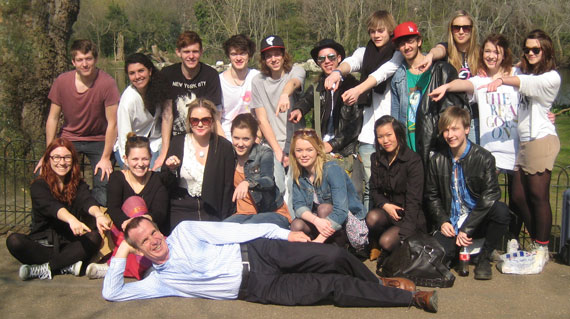John Duxbury with Swedish students