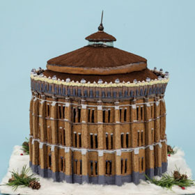 An entry in Sweden's gingerbread house competition