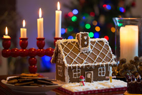 A Swedish pepparkakshus (gingerbread house)