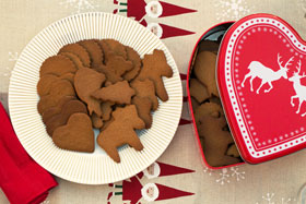 A tin of pepparkakor (Swedish gingersnaps)
