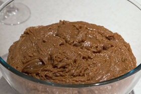 Gingersnap dough after hardening