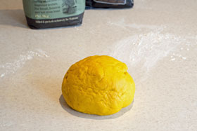 Saffron dough after kneading