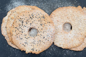 Swedish crispbread usually has a hole in the middle of each round