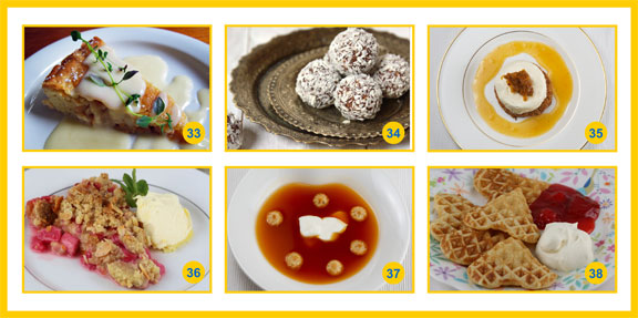 A collage of classic Swedish desserts