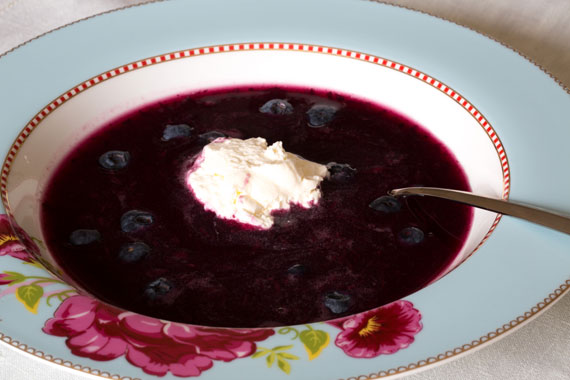 Bilberry soup