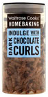 A packet of chocolate curls
