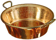 A copper jam pan