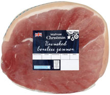 An unsmoked gammon joint suitable for julskinka