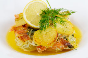 Salmon pudding, Sweden's most famous baked salmon dish