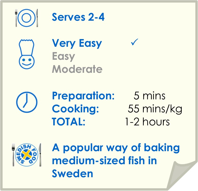 Recipe summary for slow baked turbot