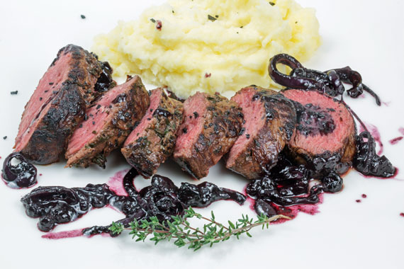 Venison with bilberry sauce