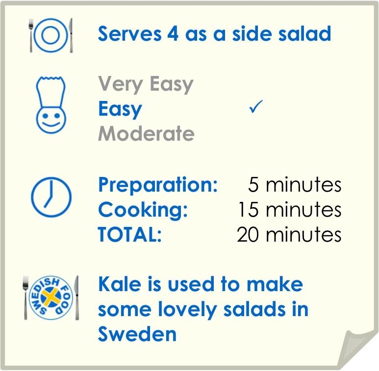 Recipe summary for kale salad with toasted hazelnuts