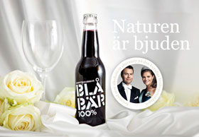 Blåbär 100% served at a royal wedding in Sweden