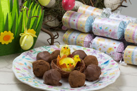 Chocolate truffles for Easter