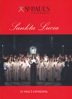 The cover of a programme for Lucia at St Paul's Cathedral