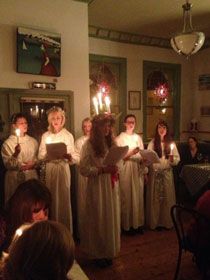 Lucia celebrations in Cheltenham