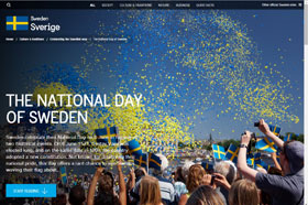 National Day in Sweden as seen by an official Swedish website