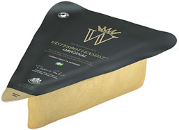 A packet of cheese from Västerbotten in northern Sweden